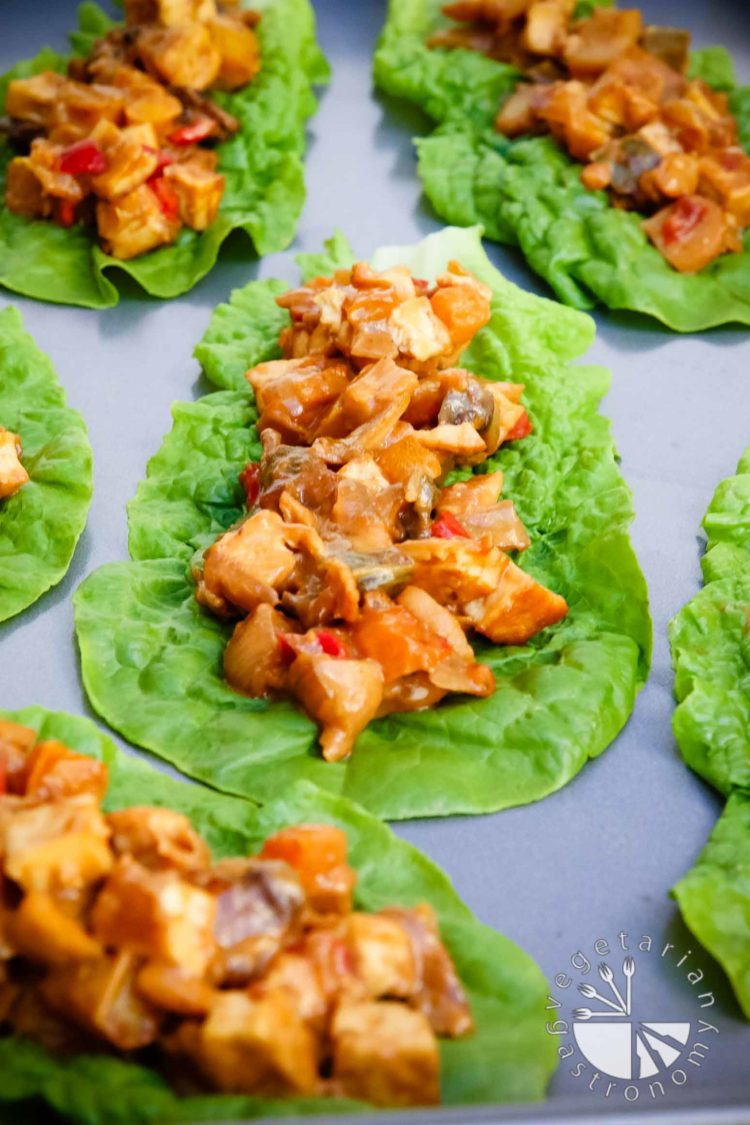 Tofu Peanut Lettuce Wraps 6