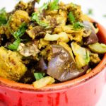 Indian Spice Stuffed Eggplants & Potatoes
