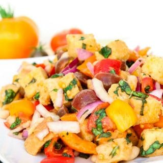 Tuscan Panzanella Salad with White Beans