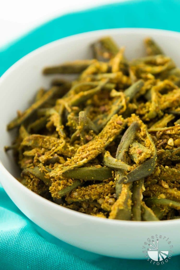 Easy Curried Okra #vegan #glutenfree | vegetariangastronomy.com