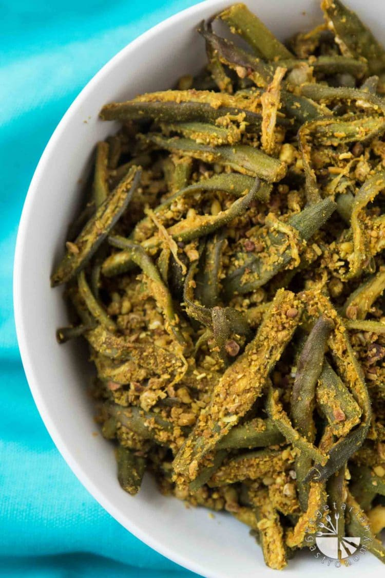 Easy Curried Okra Bhindi Masala Vegetarian Gastronomy