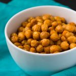 Sweet & Salty Oven Roasted Curried Chickpeas