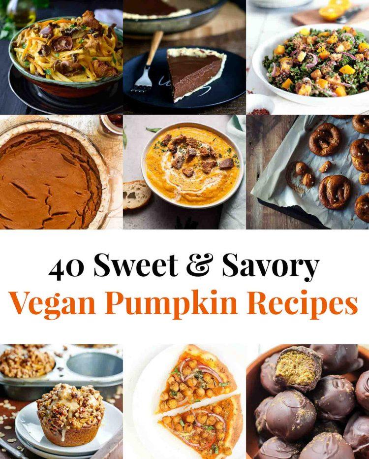 40 Sweet Savory Vegan Pumpkin Recipes