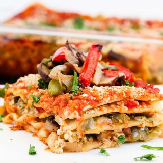 Vegan Lasagna Recipe with Roasted Veggies & Garlic Herb Ricotta + Our India Trip