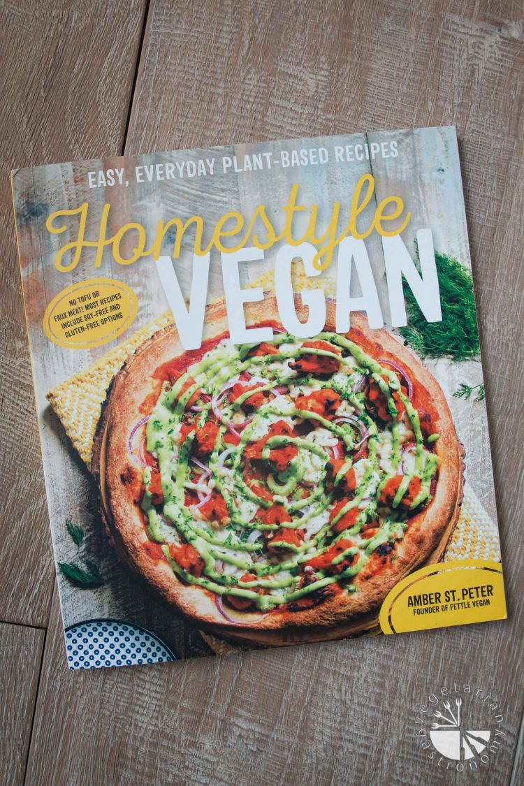 Cheesy Vegan Spinach Artichoke Dip from Homestyle Vegan Cookbook by Amber St. Peter #vegan #review #giveaway | www.vegetariangastronomy.com