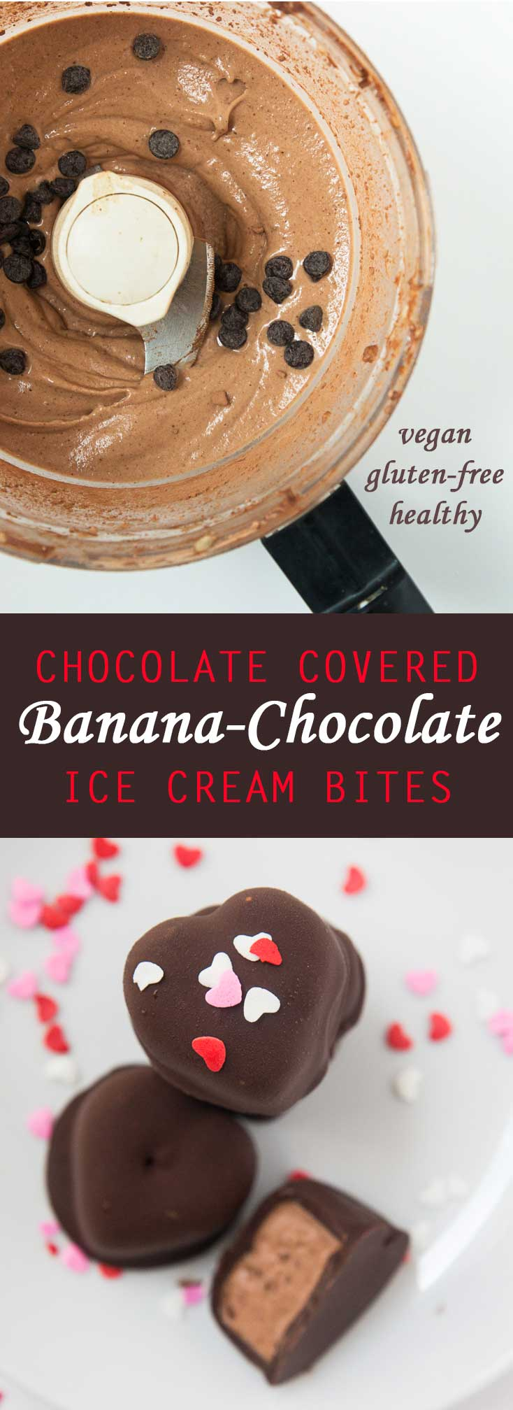 Chocolate Covered Banana-Chocolate Ice Cream Bites #vegan #glutenfree #healthy | www.Vegetariangastronomy.com