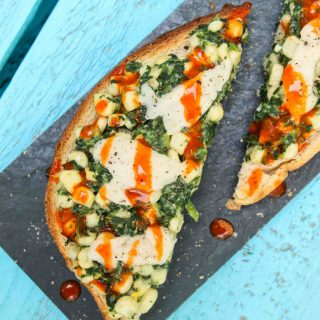 Creamy Corn & Spinach Toast (Vegan)
