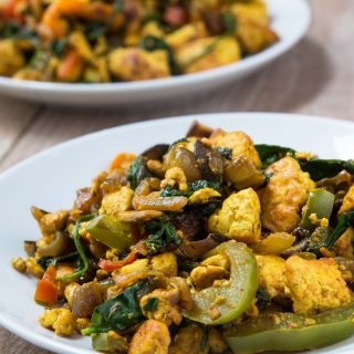 Vegan Curried Tofu Scramble Recipe #vegan #glutenfree | www.VegetarianGastronomy.com