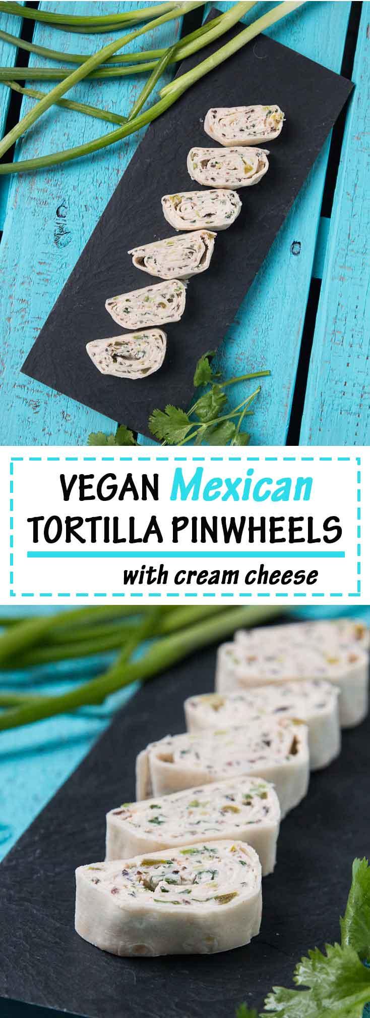 Mexican Tortilla Pinwheels (Vegan) #vegan | Vegetarian Gastronomy | www.VegetarianGastronomy.com