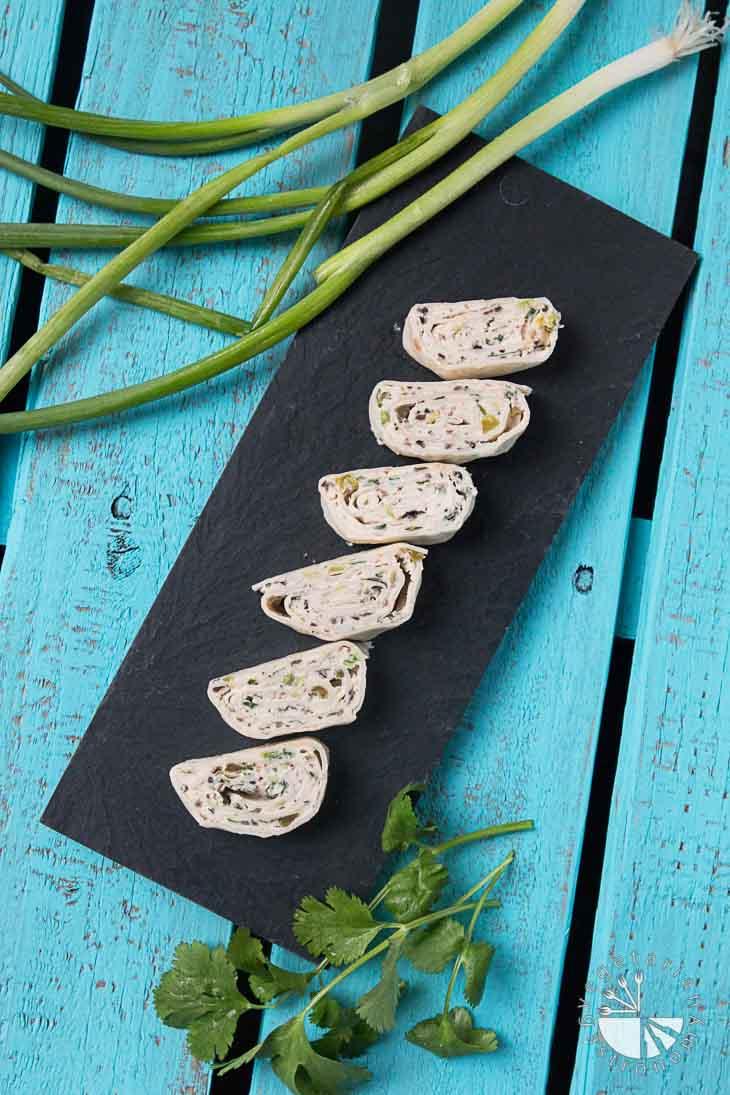 Mexican Tortilla Pinwheels (Vegan) - Vegetarian Gastronomy