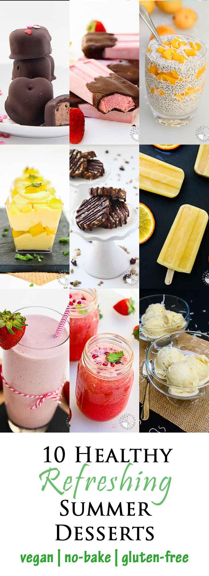 Healthy Refreshing Vegan Summer Desserts #vegan #glutenfree | www.vegetariangastronomy.com | Vegetarian Gastronomy