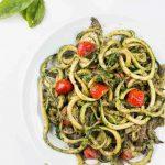 Pesto Zucchini Spaghetti Recipe (Zoodles)