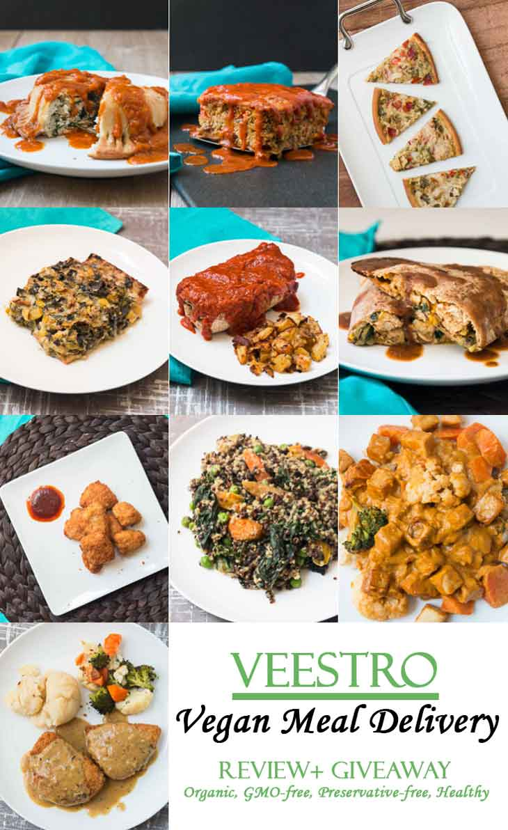 Veestro vegan meal delivery review giveaway vegetarian gastronomy a collage of veestro vegan meals for a review and giveaway forumfinder