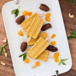 Vegan Mango Lassi Popsicles