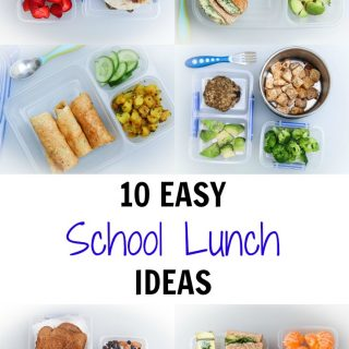 10 Easy School Lunch Ideas (Vegan)
