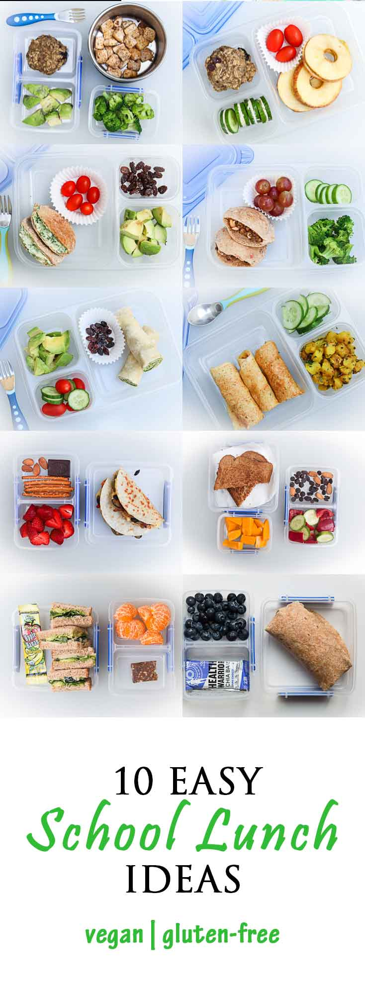10 Easy School Lunch Ideas Vegan Vegetarian Gastronomy