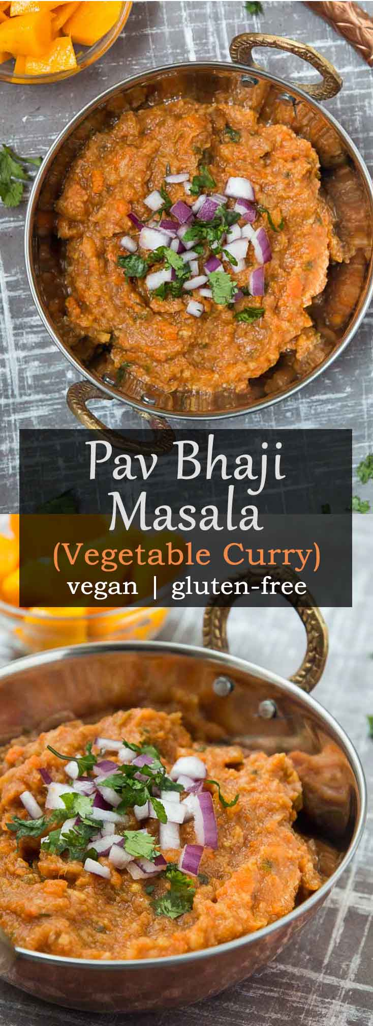 Pav bhaji Masala Recipe (Vegetable Curry) #vegan #glutenfree #healthy | Vegetarian Gastronomy | www.VegetarianGastronomy.com