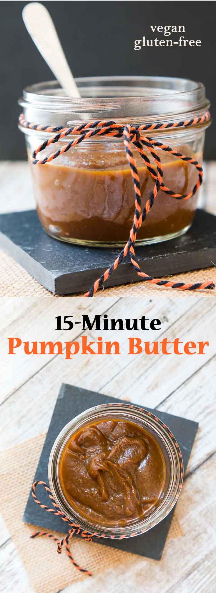15-Minute Pumpkin Butter Recipe #vegan #glutenfree | Vegetarian Gastronomy | www.VegetarianGastronomy.com