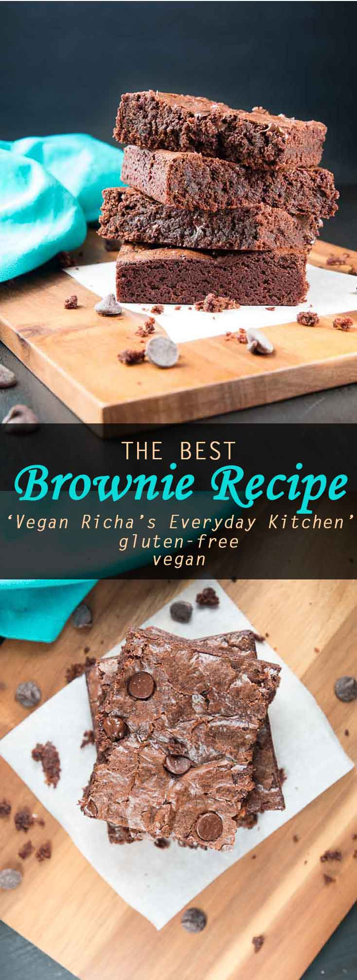 The Best Vegan Brownie Recipe from 'Vegan Richa's Everyday Kitchen' cookbook! #vegan #glutenfree | Vegetarian Gastronomy | www.VegetarianGastronomy.com