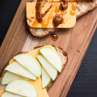 Sweet & Savory Grilled Cheese with Apples and Pumpkin (Vegan)