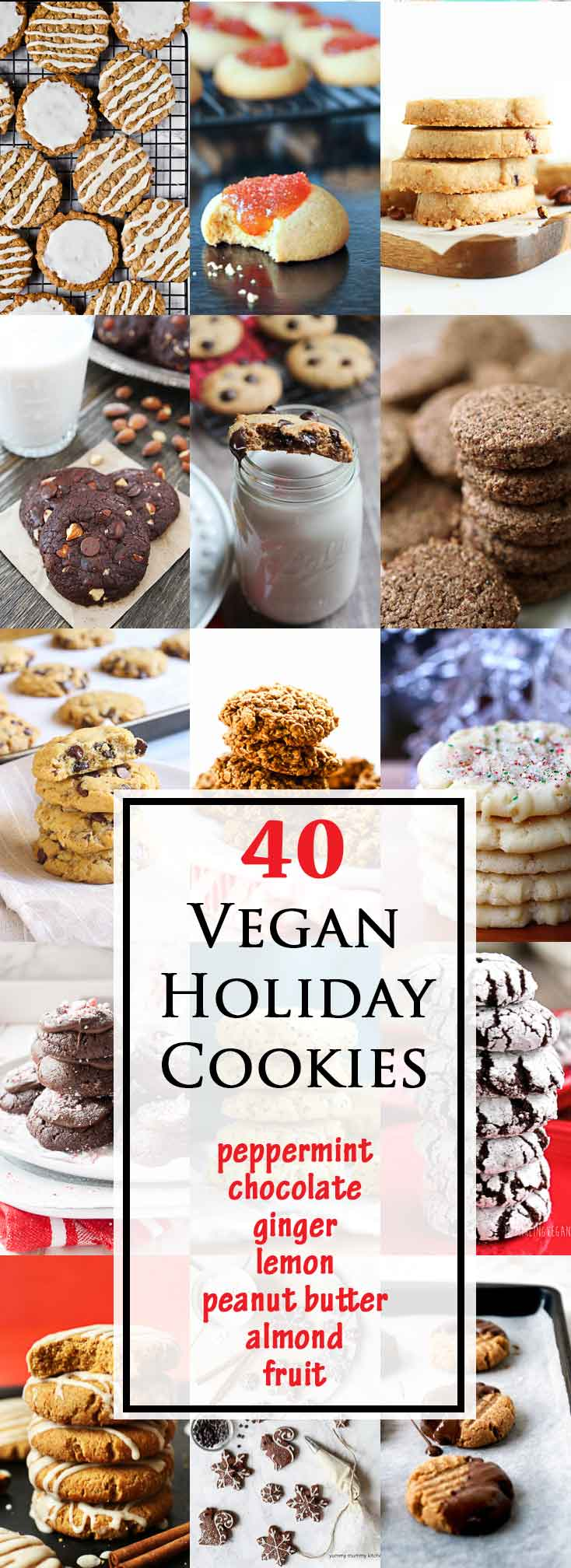 40 Best Vegan Cookies for the Holidays #vegan #glutenfree | Vegetarian Gastronomy | www.Vegetariangastronomy.com
