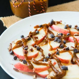 Apple Nachos Drizzled With Pumpkin Butter