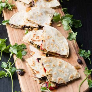 Grilled Veggie Quesadilla with Black Beans