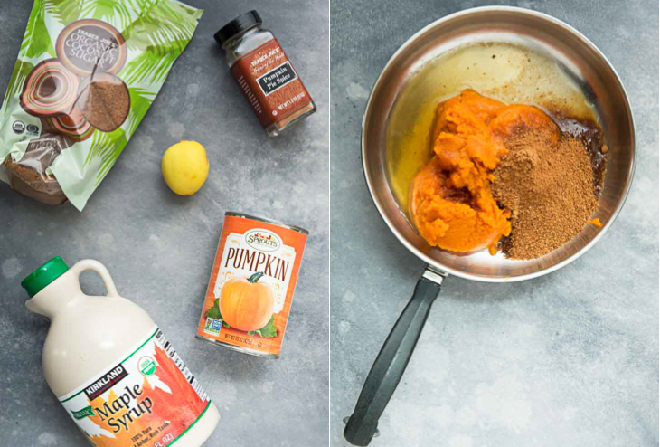 Steps on how to make the easy vegan pumpkin butter recipe.