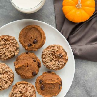 Vegan Pumpkin Spice Chocolate Chip Muffins