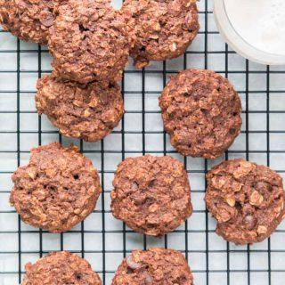 Double Chocolate Chip Breakfast Cookies (Vegan)